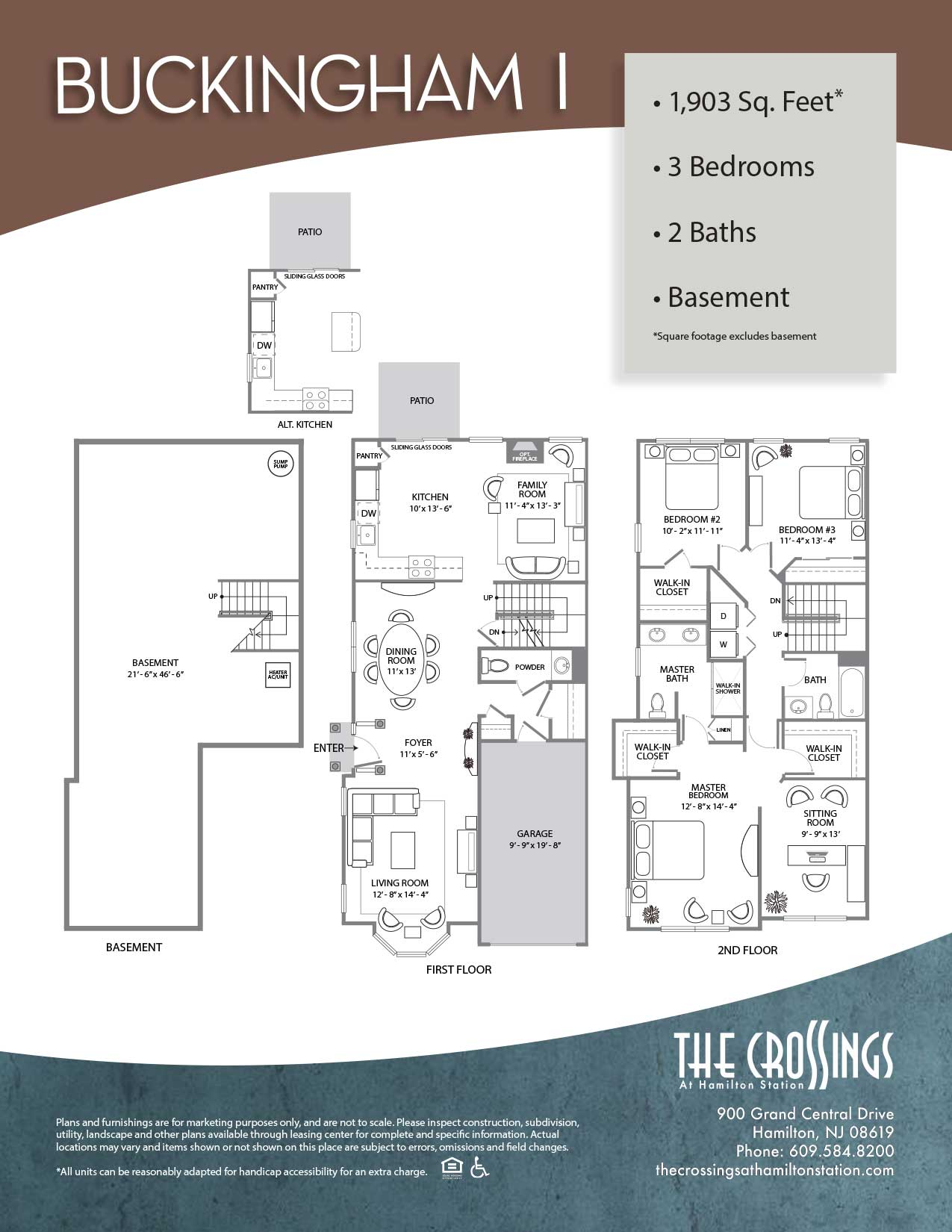 The Crossings at Hamilton Station Apartment Floor Plan BuckinghamI