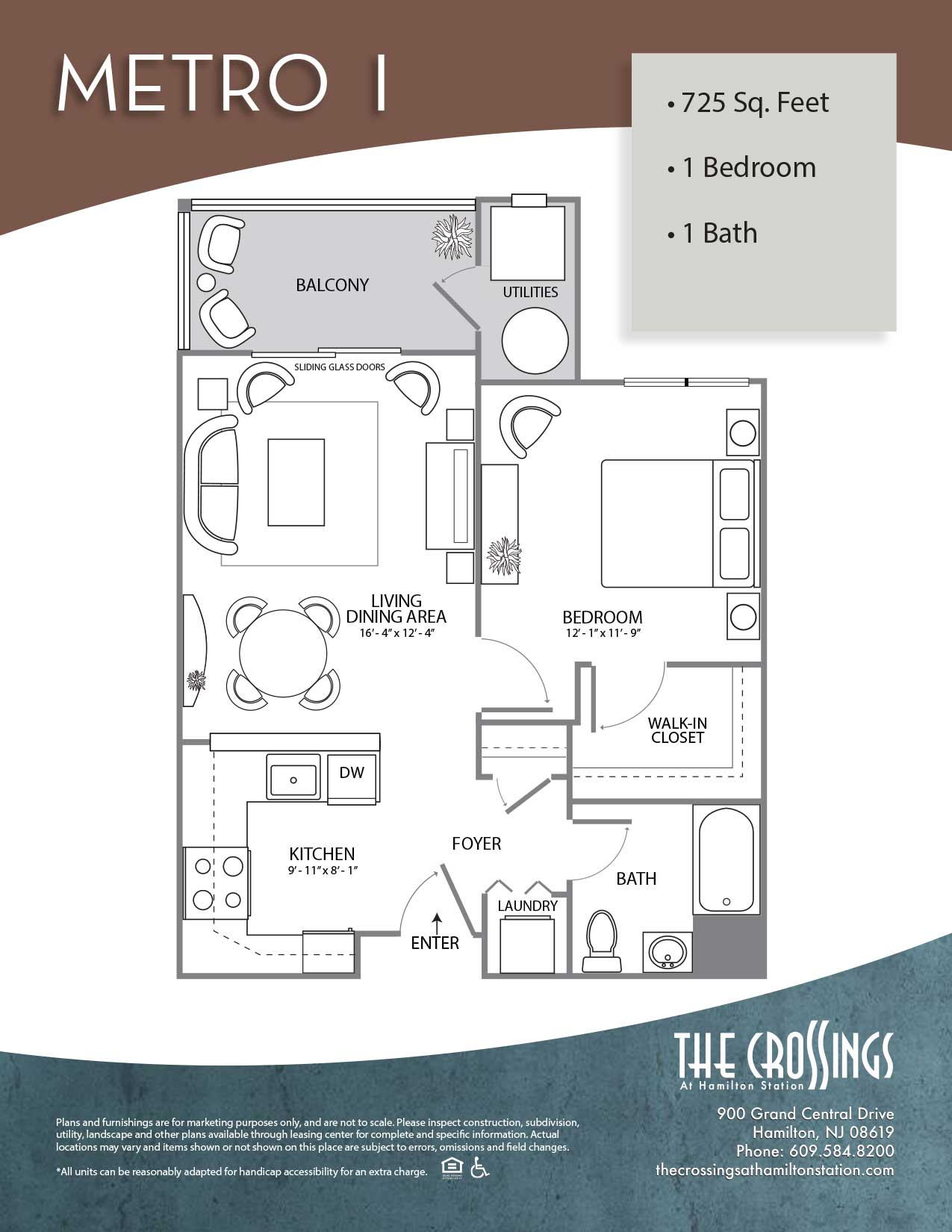 The Crossings at Hamilton Station Apartment Floor Plan Metro I