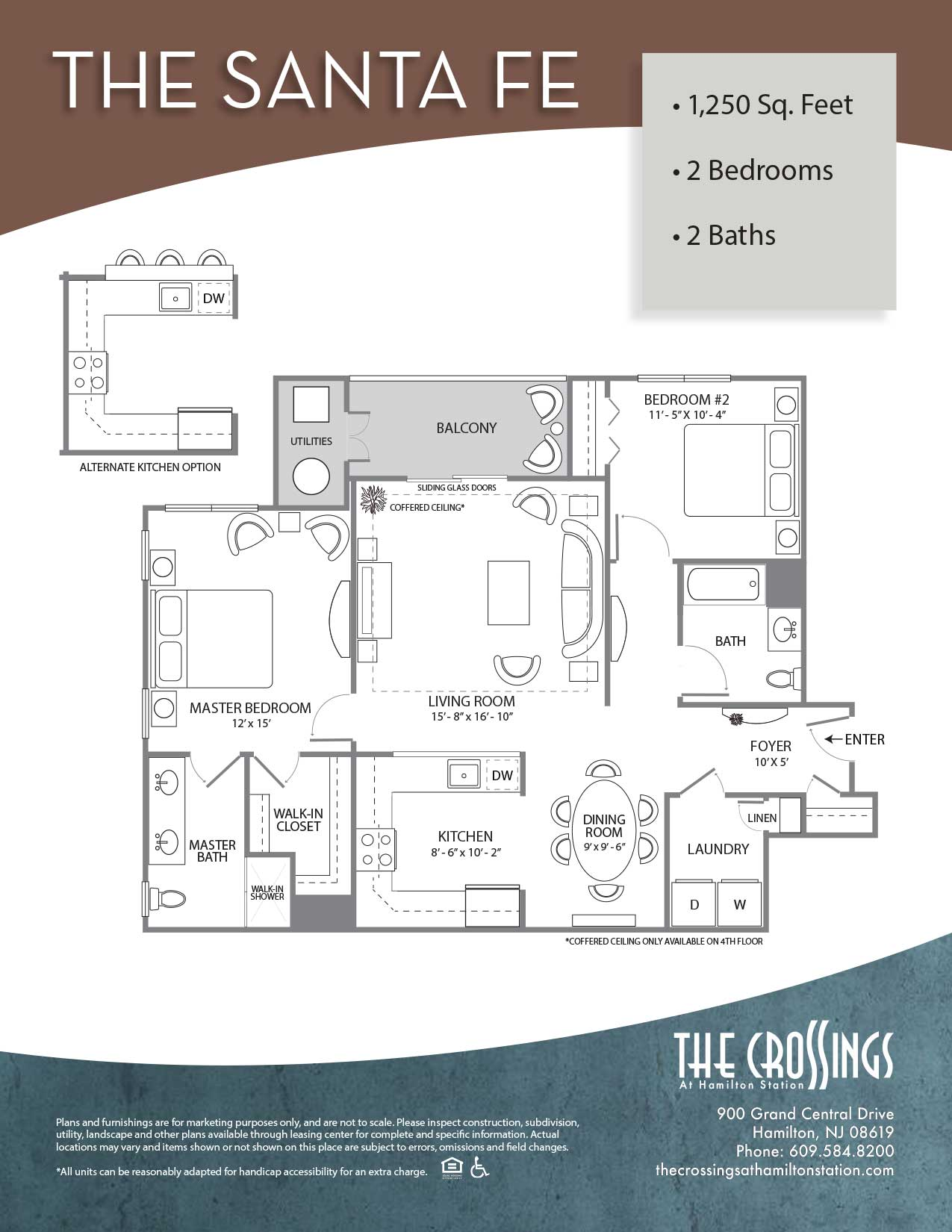 The Crossings at Hamilton Station Apartment Floor Plan Santa Fe