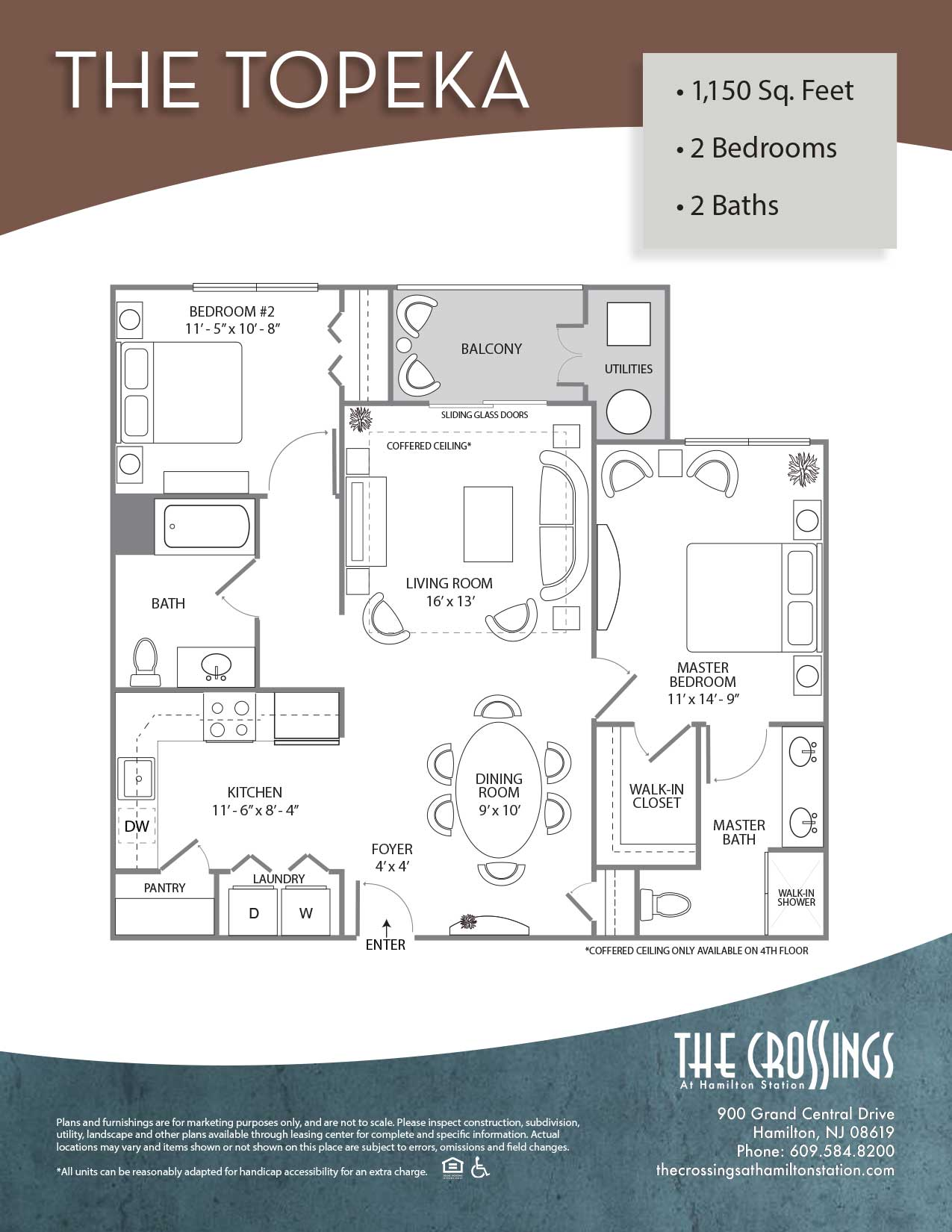The Crossings at Hamilton Station Apartment Floor Plan Topeka