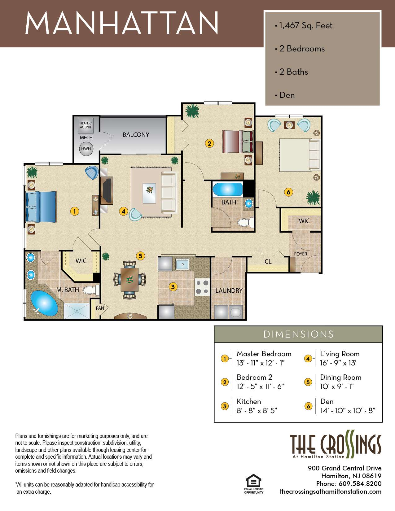 The Crossings at Hamilton Station Apartment Floor Plan Manhattan