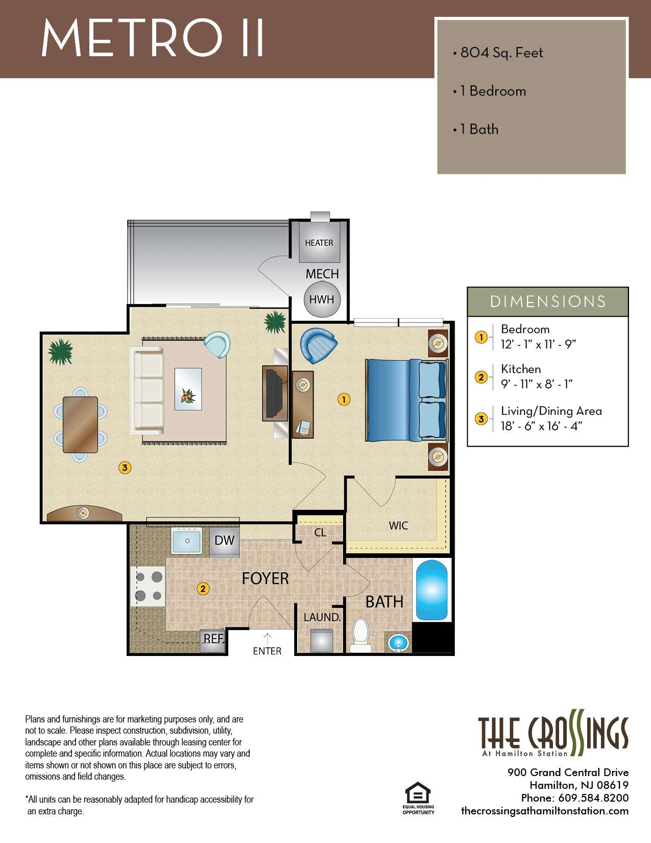 The Crossings at Hamilton Station Apartment Floor Plan Metro II