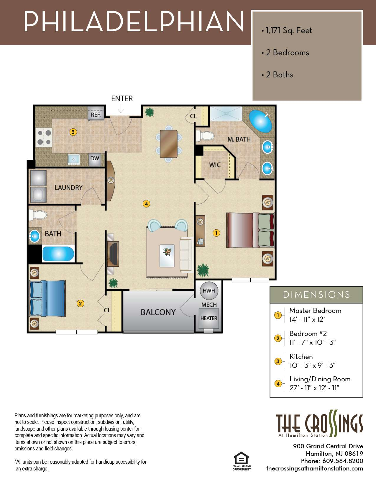 The Crossings at Hamilton Station Apartment Floor Plan The Philadelphian
