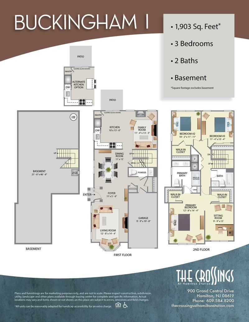 The Crossings at Hamilton Station Apartment Floor Plan BuckinghamI