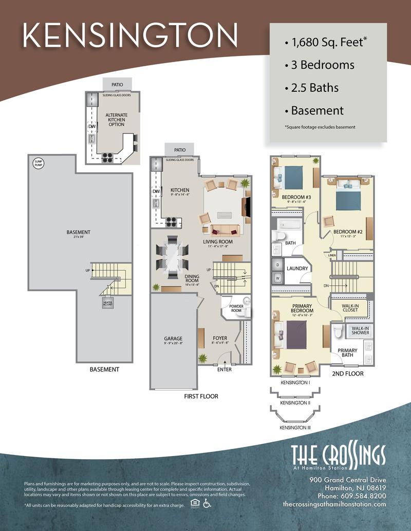 The Crossings at Hamilton Station Apartment Floor Plan Kensington