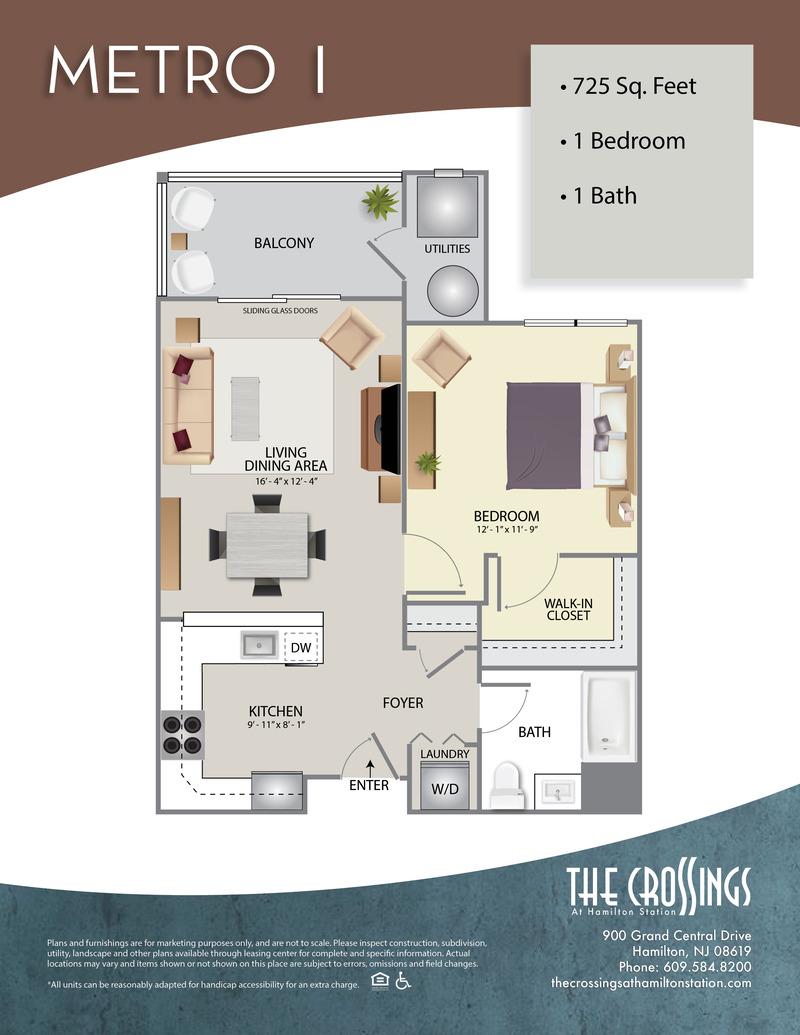 The Crossings at Hamilton Station Apartment Floor Plan Metro I