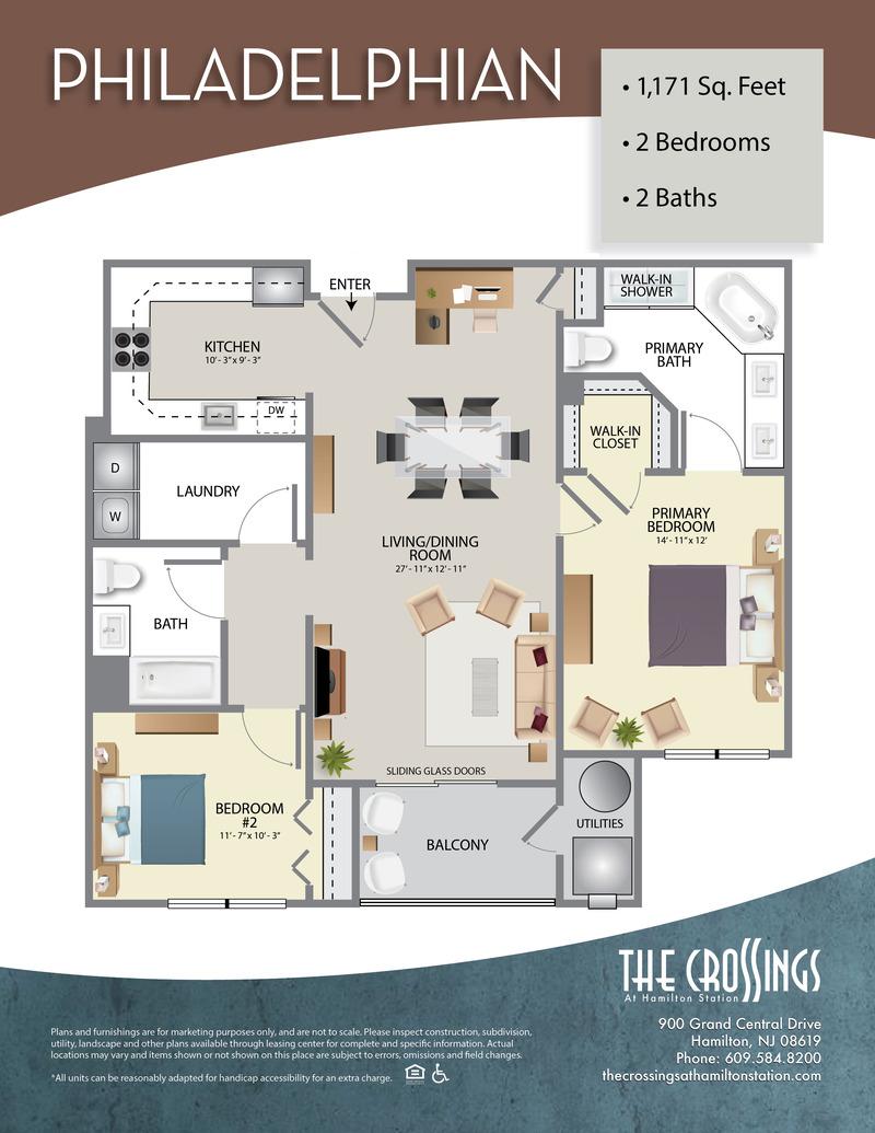 The Crossings at Hamilton Station Apartment Floor Plan The Philadelphian