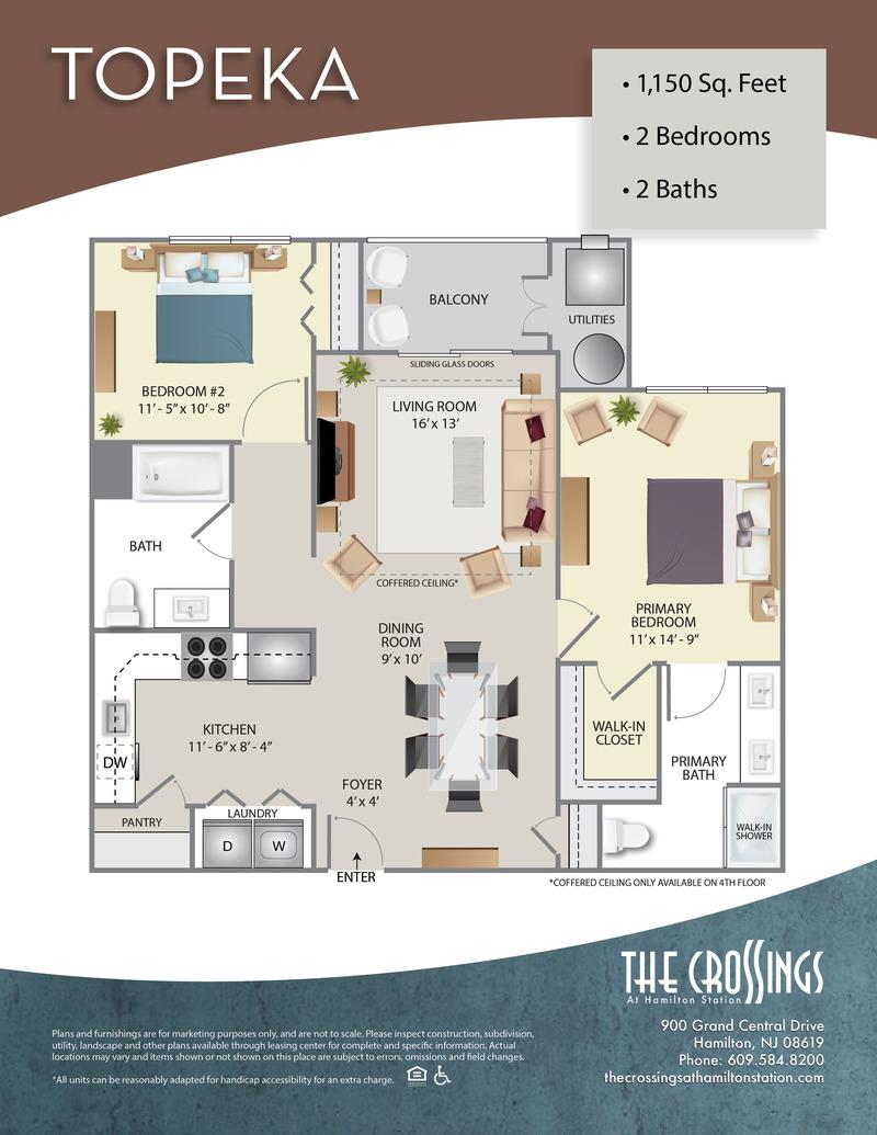 The Crossings at Hamilton Station Apartment Floor Plan Topeka