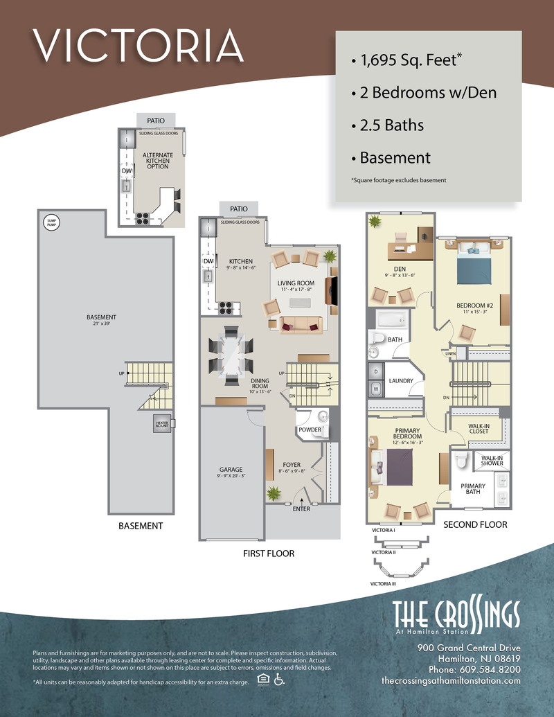 The Crossings at Hamilton Station Apartment Floor Plan The Victoria