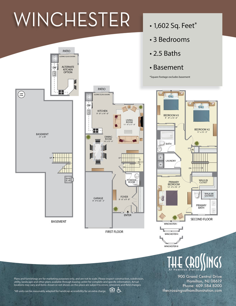 The Crossings at Hamilton Station Apartment Floor Plan The Winchester